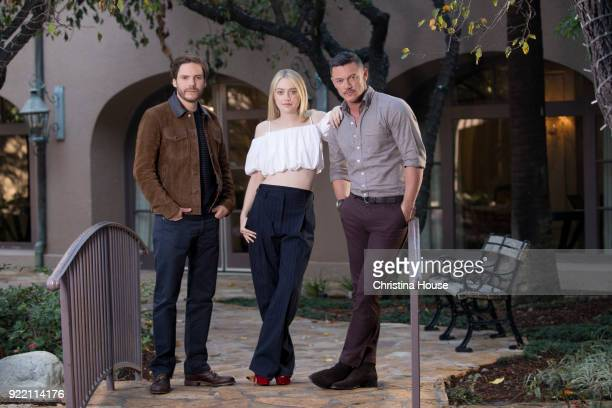 Actors Dakota Fanning Daniel Bruhl and Luke Evans are photographed for Los Angeles Times on January 11 2018 in Pasadena California PUBLISHED IMAGE...