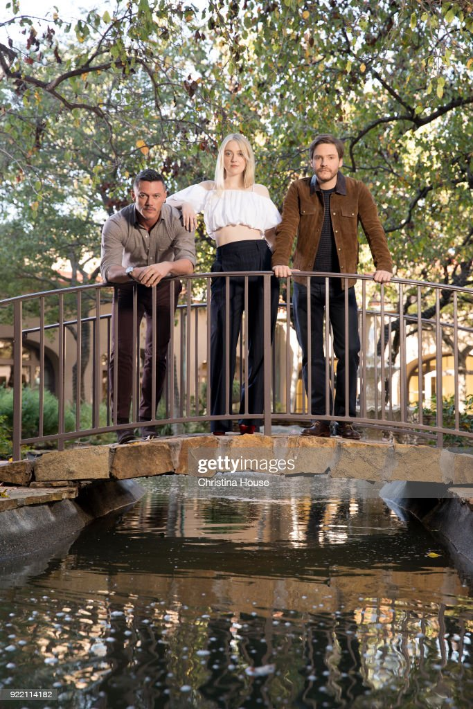 Actors Dakota Fanning, Daniel Bruhl and Luke Evans are photographed for Los Angeles Times on January 11, 2018 in Pasadena, California. PUBLISHED IMAGE.