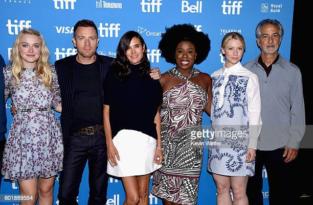Actors Dakota Fanning Ewan McGregor Jennifer Connelly Uzo Aduba Valorie Curry and David Strathairn attend the 'American Pastoral' press conference...