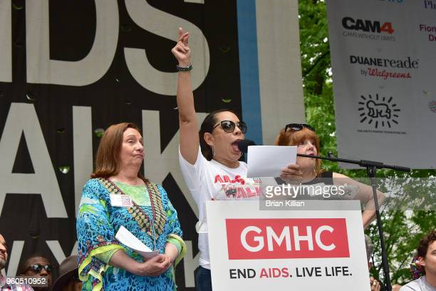 Actors Dale Soules Selenis Leyva and Annie Golden attend the 2018 AIDS Walk New York on May 20 2018 in New York City