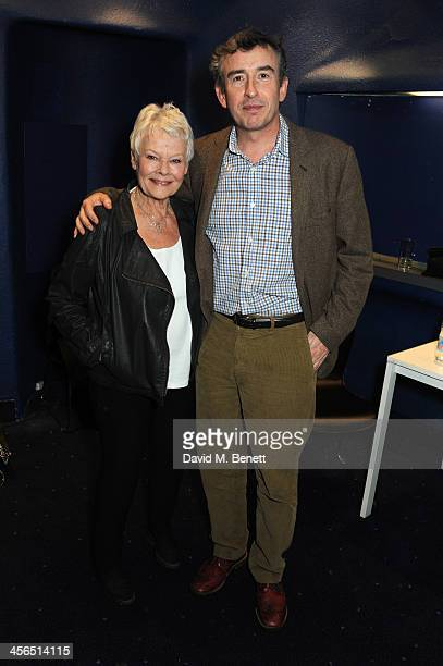 Actors Dame Judi Dench and Steve Coogan attend a private screening and QA of Philomena at Odeon West End on December 13 2013 in London England