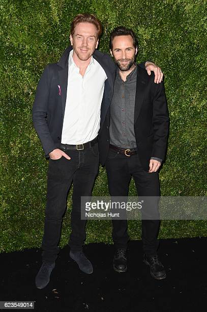 Actors Damian Lewis and Alessandro Nivola attend the MoMA Film Benefit presented by CHANEL A Tribute To Tom Hanks at MOMA on November 15 2016 in New...