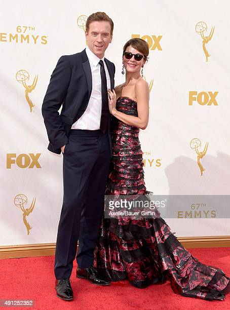 Actors Damian Lewis and Helen McCrory arrive at the 67th Annual Primetime Emmy Awards at Microsoft Theater on September 20 2015 in Los Angeles...
