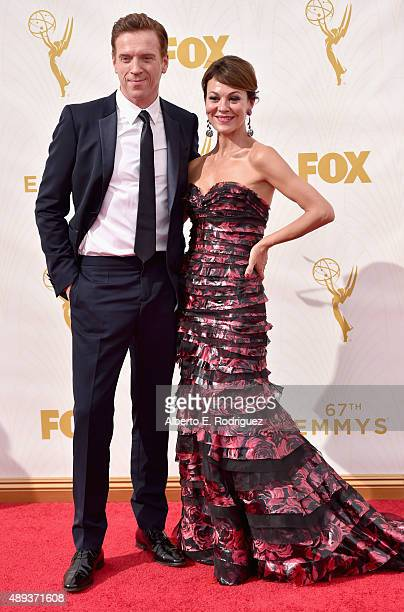 Actors Damian Lewis and Helen McCrory attend the 67th Emmy Awards at Microsoft Theater on September 20 2015 in Los Angeles California 25720_001