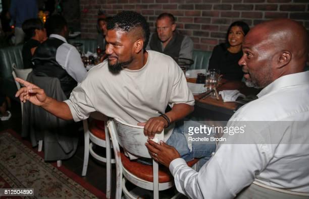 Actors Damien Dante Wayans and Chris Spencer attend the Haute Living Celebrates Jada Pinkett Smith with Armand de Brignac event at Catch LA on July...