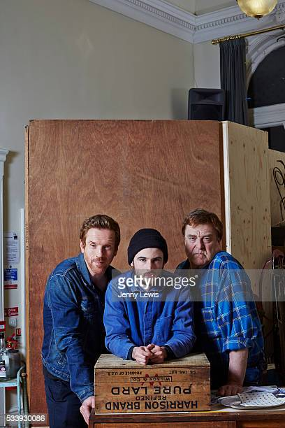 Actors Damien Lewis Tom Sturridge and John Goodman is photographed for the Telegraph on March 23 2015 in London England