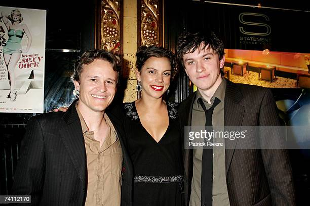 Actors Damon Herriman Holly Andrew and Abe Forsythe arrive at The 2007 Movie Extra Filmink Awards designed for the general public to participate with...