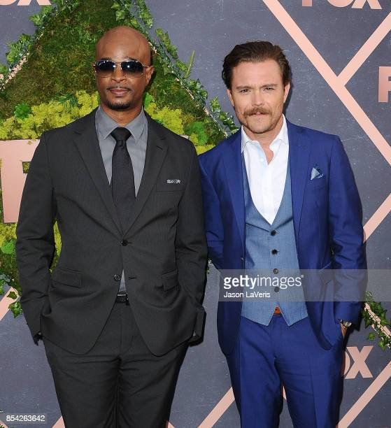 Actors Damon Wayans and Clayne Crawford attend the FOX Fall Party at Catch LA on September 25 2017 in West Hollywood California