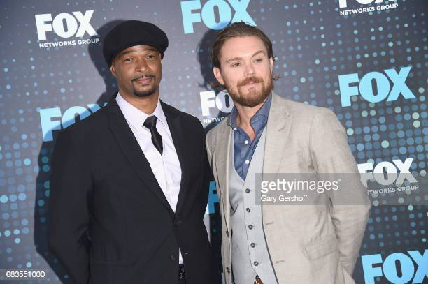 Actors Damon Wayans and Clayne Crawford of the show 'Lethal Weapon' attend the FOX Upfront on May 15 2017 in New York City
