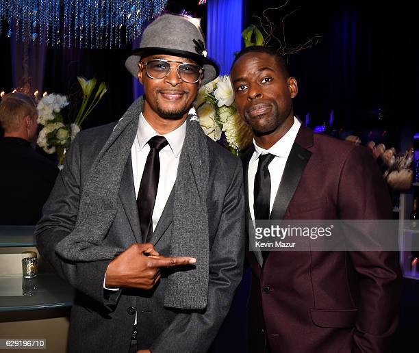 Actors Damon Wayans and Sterling K Brown attend The 22nd Annual Critics' Choice Awards at Barker Hangar on December 11 2016 in Santa Monica California
