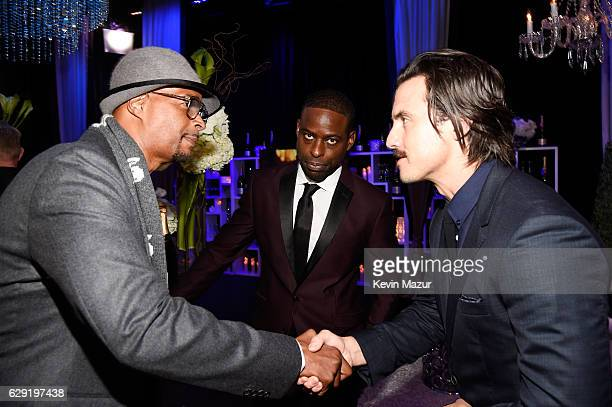 Actors Damon Wayans Sterling K Brown and Milo Ventimiglia attend The 22nd Annual Critics' Choice Awards at Barker Hangar on December 11 2016 in Santa...