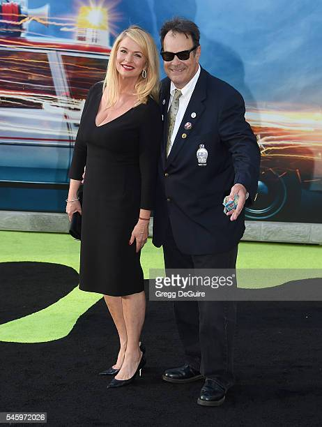 """Actors Dan Aykroyd and Donna Dixon arrive at the premiere of Sony Pictures' """"Ghostbusters"""" at TCL Chinese Theatre on July 9, 2016 in Hollywood,..."""