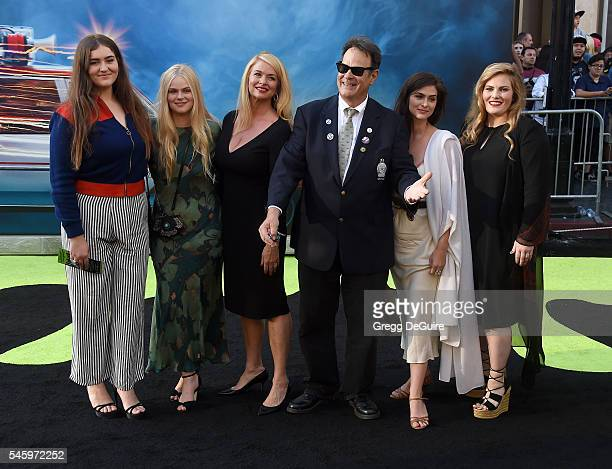 """Actors Dan Aykroyd, Donna Dixon and kids arrive at the premiere of Sony Pictures' """"Ghostbusters"""" at TCL Chinese Theatre on July 9, 2016 in Hollywood,..."""