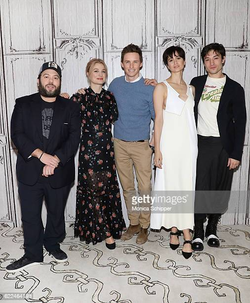 Actors Dan Fogler Alison Sudol Eddie Redmayne Katherine Waterson and Ezra Miller attend The Build Series Presents 'Fantastic Beasts And Where to Find...