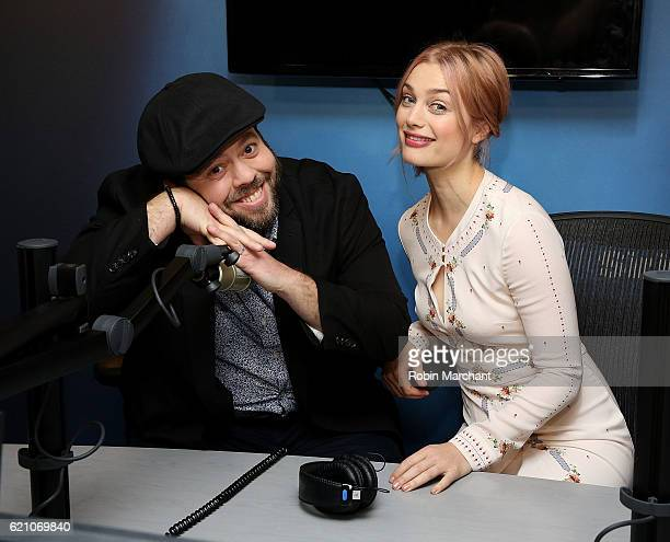 Actors Dan Fogler and Alison Sudol visit at SiriusXM Studio on November 4 2016 in New York City