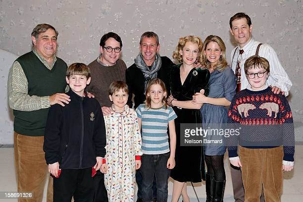 Actors Dan Lauria and Matthew Broderick son James Wilke Broderick director Adam Shenkman and actors Erin Dilly Kelli O'Hara and John Bolton and cast...