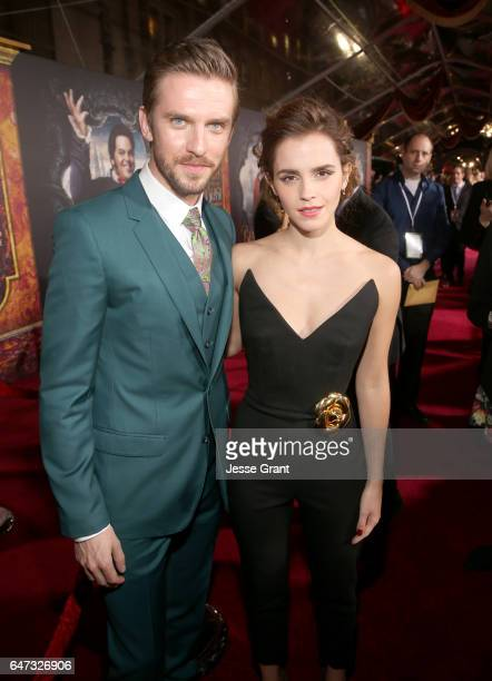 Actors Dan Stevens and Emma Watson arrive for the world premiere of Disney's liveaction Beauty and the Beast at the El Capitan Theatre in Hollywood...