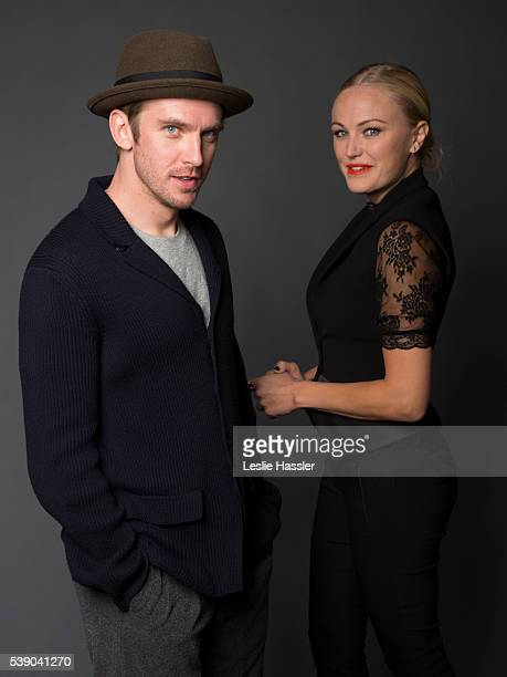 Actors Dan Stevens and Malin Akerman are photographed for Glamourcom on April 16 2016 in New York City