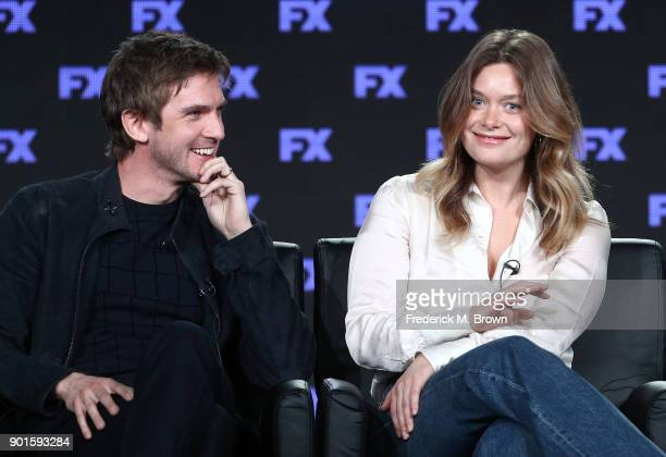 Actors Dan Stevens and Rachel Keller of the television show LEGION speak onstage during the FOX/FX portion of the 2018 Winter Television Critics...