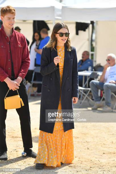 Actors Dan Whitlam and Emma Mackey jury member of the Cannes Series attend the 2nd Canneseries International Series Festival Day Five on April 09...