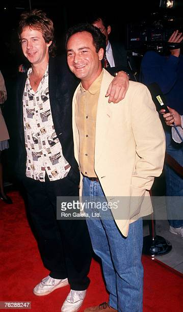 Actors Dana Carvey and Kevin Pollack attending a screening of MortonHayes on September 22 1991 at The Academy Theater in Beverly Hills California