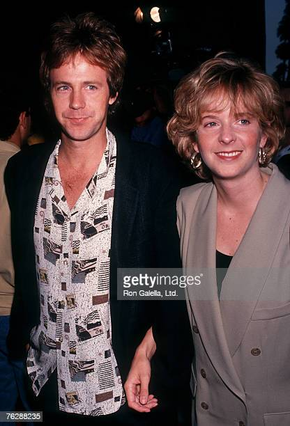 Actors Dana Carvey and wife Paula Swaggerman on September 22 1991 at The Academy Theater in Beverly Hills California