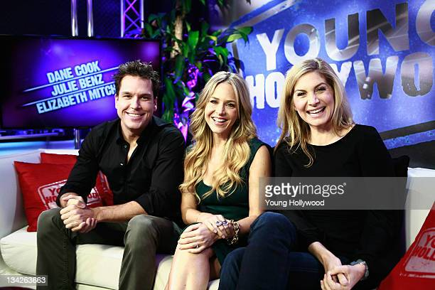 Actors Dane Cook Julie Benz and Elizabeth Mitchell at the Young Hollywood Studio on November 29 2011 in Los Angeles California