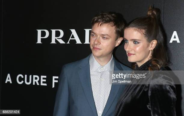 Actors Dane DeHaan and Anna Wood attend the screening of 'A Cure for Wellness' hosted by 20th Century Fox and Prada at Landmark's Sunshine Cinema on...