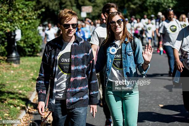Actors Dane DeHaan and Anna Wood participate in the 2016 One BK Unite Walk at Prospect Park on September 25 2016 in New York City