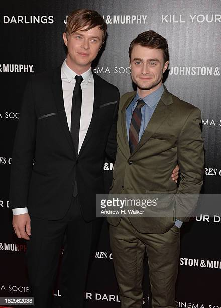 Actors Dane DeHaan and Daniel Radcliffe attend The Cinema Society and Johnston Murphy screening of Sony Pictures Classics' Kill Your Darlings at...