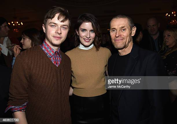 Actors Dane DeHaan Anna Wood and Willem Dafoe attend the Miu Miu Women's Tales 9th Edition 'De Djess' screening on February 18 2015 in New York City