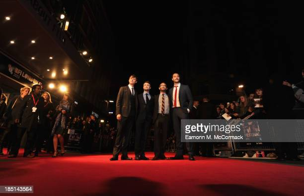 Actors Dane DeHaan Daniel Radcliffe director John Krokidas and actor Jack Huston attend a screening of 'Kill Your Darlings' during the 57th BFI...