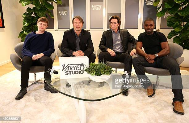 Actors Dane DeHaan Mads Mikkelsen Dermot Mulroney and David Oyelowo attend Variety Awards Studio Day 1 at the Leica Gallery and Store on November 20...