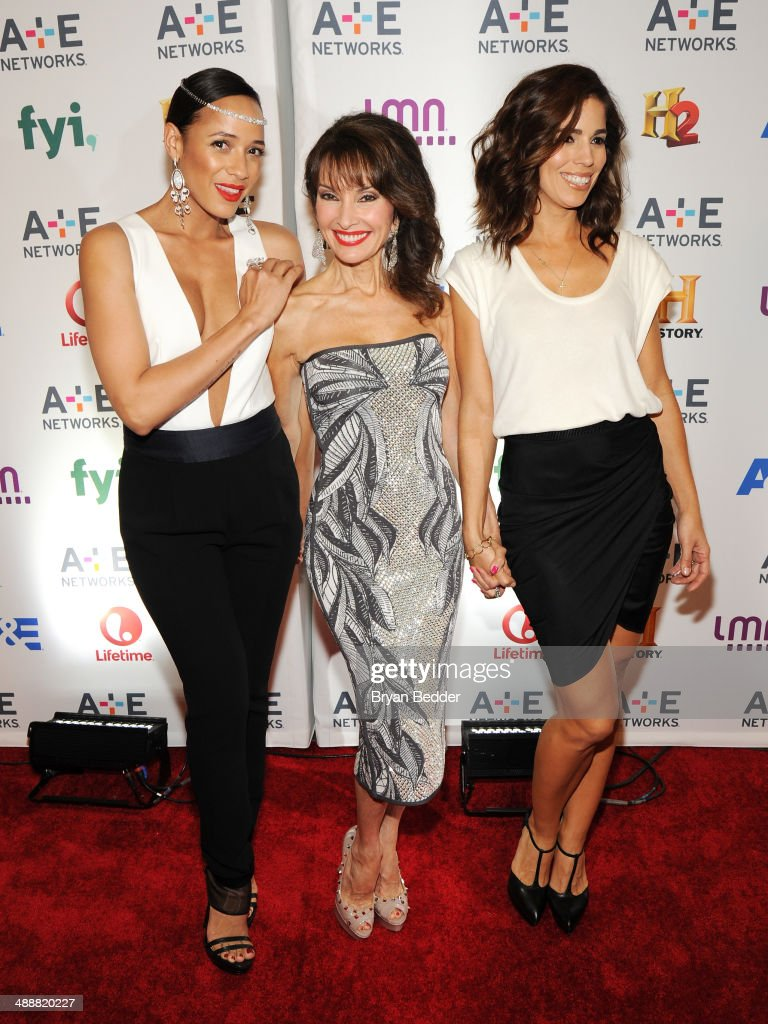 Actors Dania Ramirez, Susan Lucci and Ana Ortiz attend the 2014 A+E Networks Upfront on May 8, 2014 in New York City.