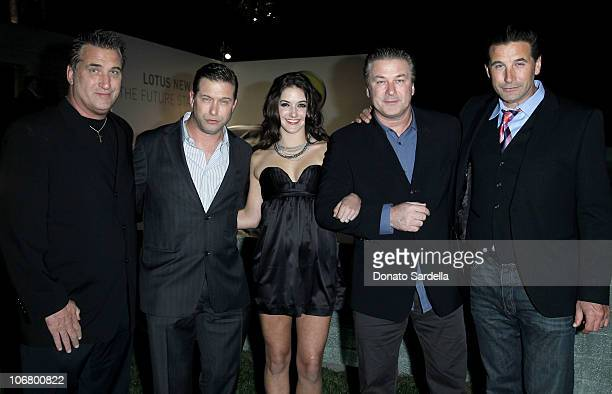 Actors Daniel Baldwin Stephen Baldwin daughter Alaia Baldwin actors Alec Baldwin and Billy Baldwin attend the US Launch Event for New Lotus Cars held...