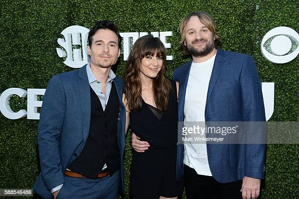 Actors Daniel Bonjour Devin Kelley Lenny Jacobson arrives at the CBS CW Showtime Summer TCA Party at Pacific Design Center on August 10 2016 in West...