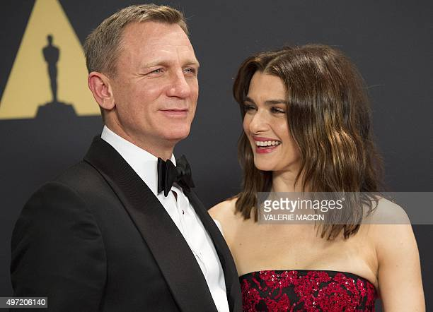 Actors Daniel Craig and Rachel Weisz attend the 7th Annual Governors Awards honoring Spike Lee, Gena Rowlands and Debbie Reynolds, in Hollywood,...