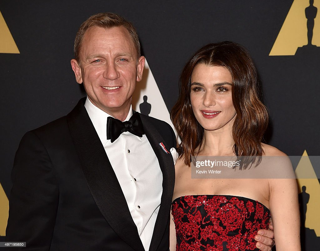 Actors Daniel Craig (L) and Rachel Weisz attend the Academy of Motion Picture Arts and Sciences' 7th annual Governors Awards at The Ray Dolby Ballroom at Hollywood & Highland Center on November 14, 2015 in Hollywood, California.