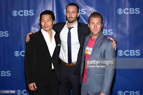 Actors Daniel Dae Kim Alex O'Loughlin and Scott Caan attend the 2011 CBS Upfront at The Tent at Lincoln Center on May 18 2011 in New York City