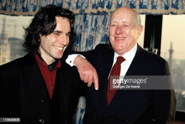 Actors Daniel DayLewis and Alec Guinness in 1989 ca in London England