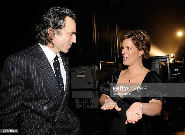 Actors Daniel Day-Lewis and Marcia Gay Harden inside at the 13th ANNUAL CRITICS' CHOICE AWARDS at the Santa Monica Civic Auditorium on January 7,...