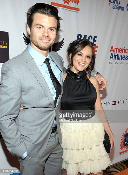 Actors Daniel Gillies and Rachael Leigh Cook arrive at the 18th Annual Race to Erase MS event cochaired by Nancy Davis and Tommy Hilfiger at the...