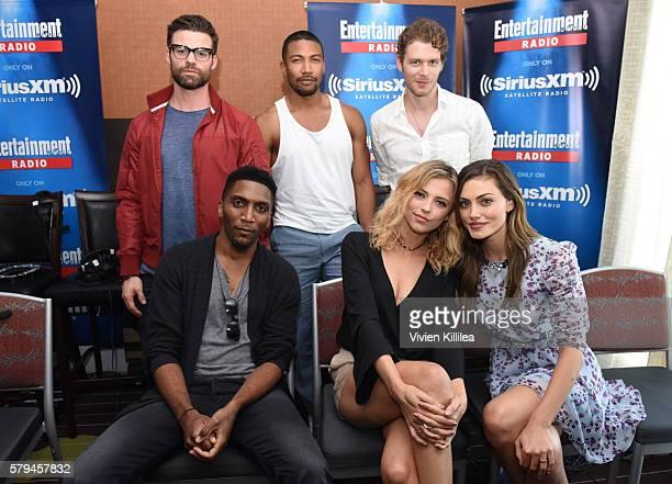 Actors Daniel Gillies, Charles Michael Davis, Joseph Morgan, Yusuf Gatewood, Riley Voelkel and Phoebe Tonkin attend SiriusXM's Entertainment Weekly...