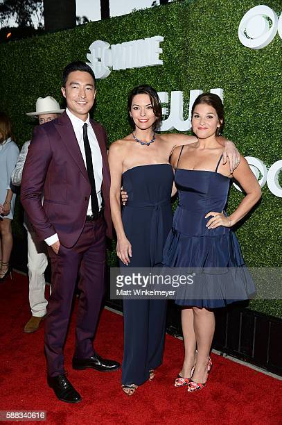 Actors Daniel Henney Alana De La Garza and Annie Funke arrive at the CBS CW Showtime Summer TCA Party at Pacific Design Center on August 10 2016 in...