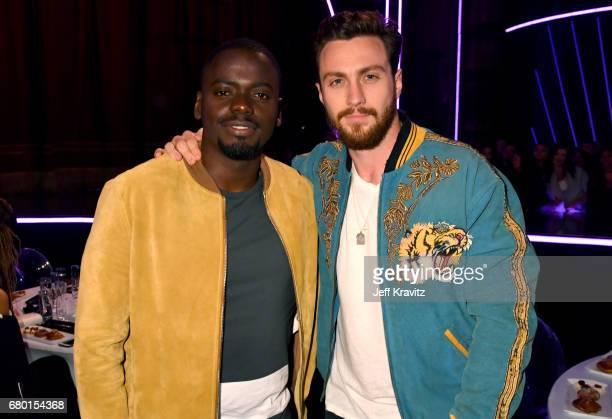 Actors Daniel Kaluuya and Aaron Taylor Johnson attend the 2017 MTV Movie And TV Awards at The Shrine Auditorium on May 7 2017 in Los Angeles...