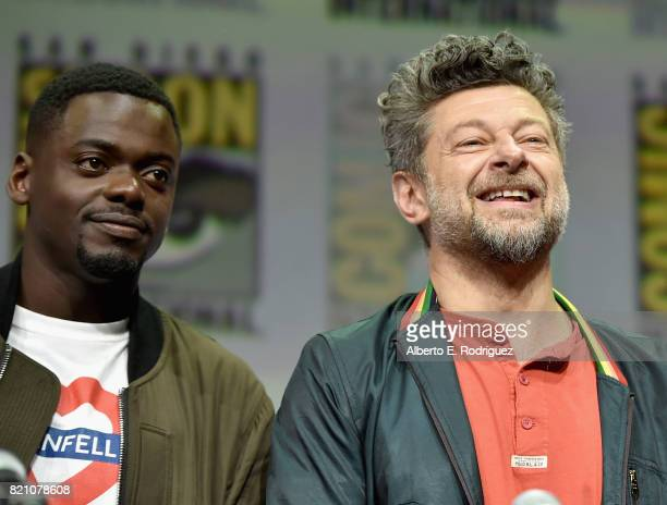 Actors Daniel Kaluuya and Andy Serkis from Marvel Studios' 'Black Panther' at the San Diego ComicCon International 2017 Marvel Studios Panel in Hall...