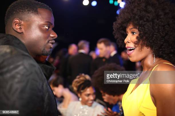 Actors Daniel Kaluuya and Sydelle Noel attend the 24th Annual Screen Actors Guild Awards at The Shrine Auditorium on January 21 2018 in Los Angeles...