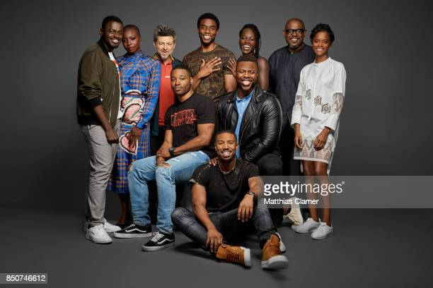 Actors Daniel Kaluuya Danai Gurira Andy Serkis Chadwick Boseman Lupita Nyong'o Forest Whitaker Letitia Wright Winston Duke Michael B Jordan and...