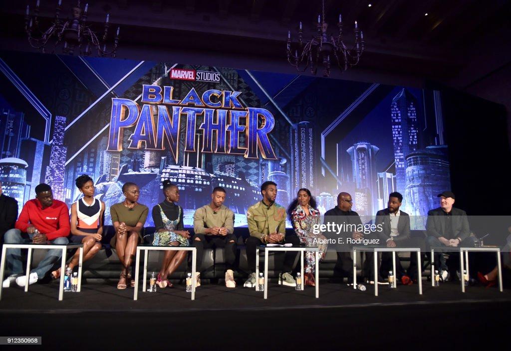Marvel Studios' BLACK PANTHER Global Junket Press Conference : News Photo