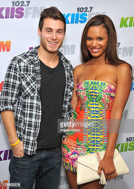 Actors Daniel Lipshutz and Taelyr Robinson arrive at the 1027 KIIS FM Teen Choice Awards preparty at W Los Angeles Westwood on August 9 2013 in Los...